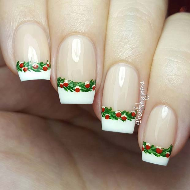 Festive French Tips