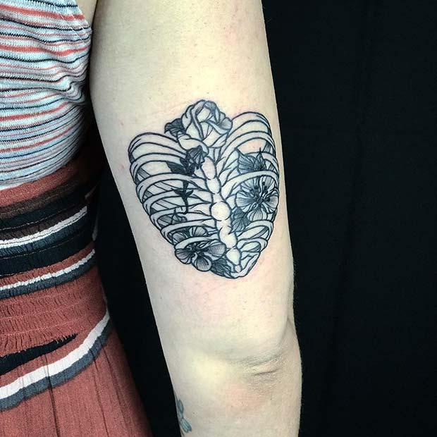 Floral Rib Cage Tattoo