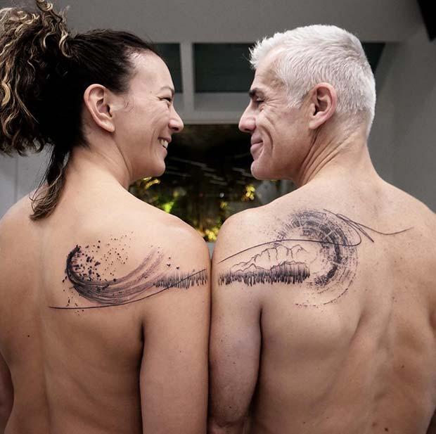 Unique Half Tattoos for Couples