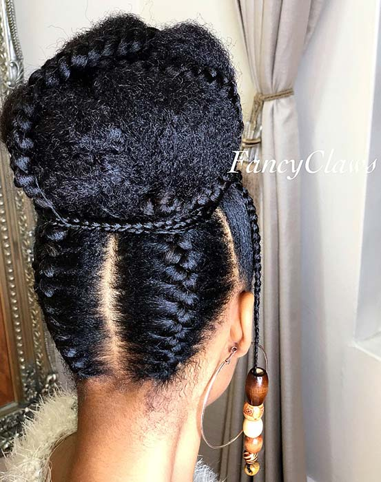 21 Easy Ways To Wear Natural Hair Braids Page 2 Of 2