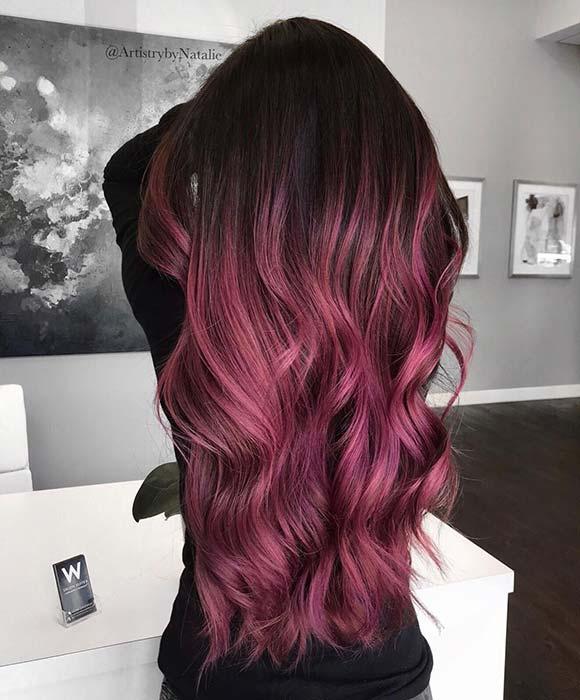 Light Burgundy Hair Ombre