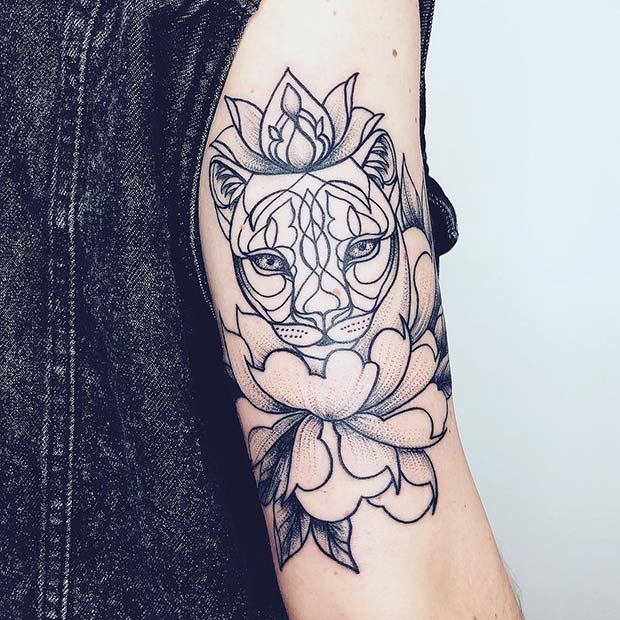 Lioness Tattoo Idea