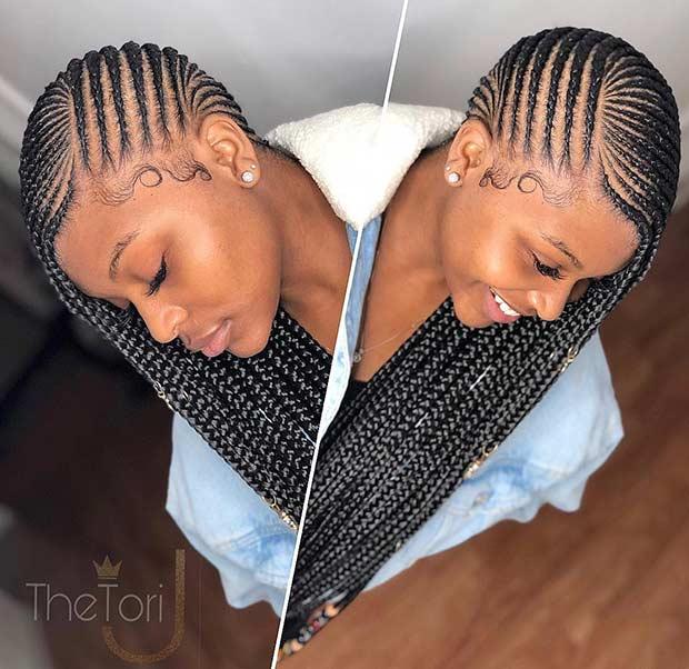 Long Lemonade Braids with Weave