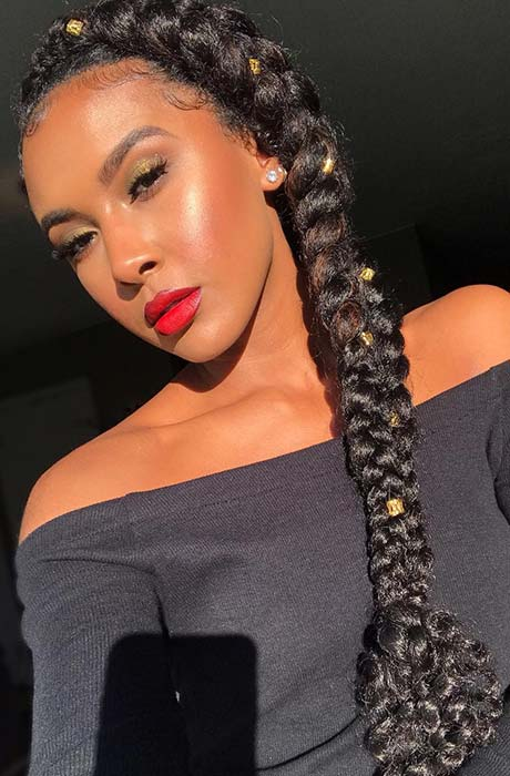 Long Side Braid for Natural Hair