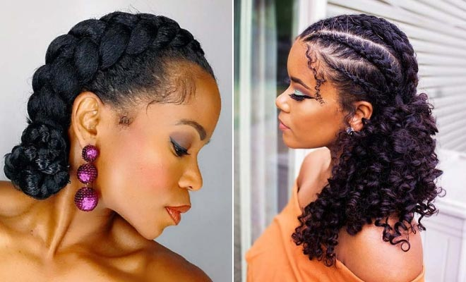 21 Easy Ways To Wear Natural Hair Braids Stayglam