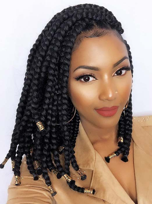 41 Best Jumbo Box Braids Hairstyles Page 3 Of 4 Stayglam