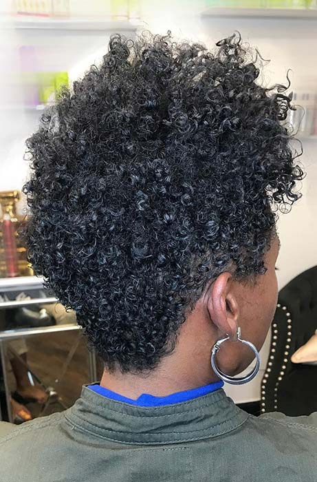 Short Curly Natural Style