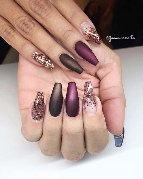 Stylish, Matte Gel Coffin Nails