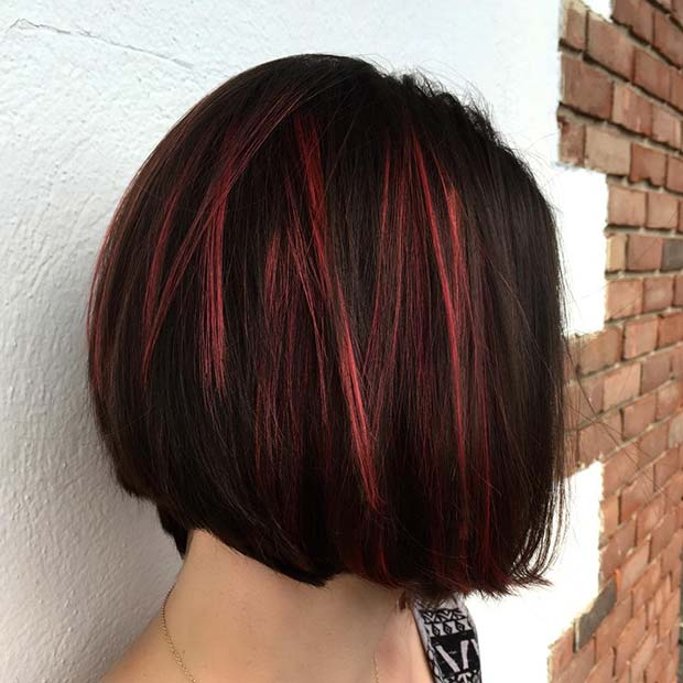 Subtle Red and Black Hair