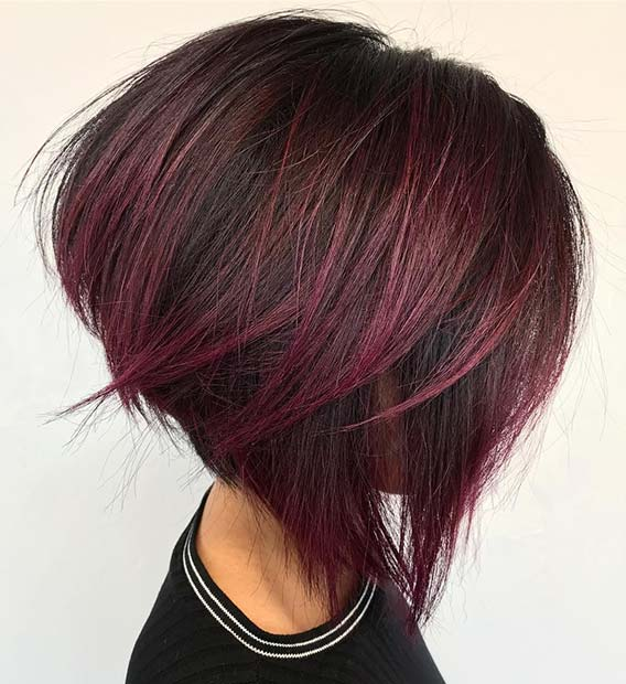 Pleasing 43 Burgundy Hair Color Ideas And Styles For 2019 Stayglam Schematic Wiring Diagrams Amerangerunnerswayorg