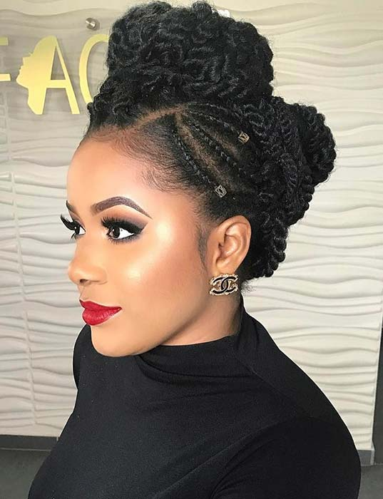 Braided Updos For Black Hair