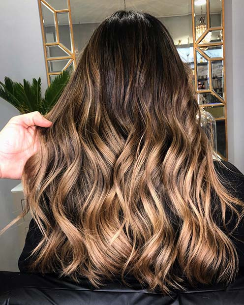 Warm Caramel Blonde Hair Idea