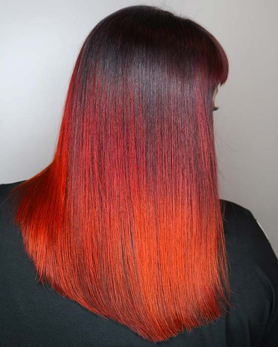 Warm Red and Black Hair