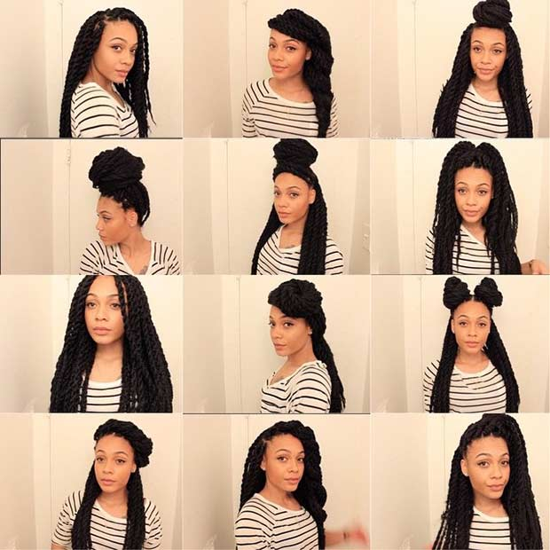 Ways to Style Marley Twist Braids