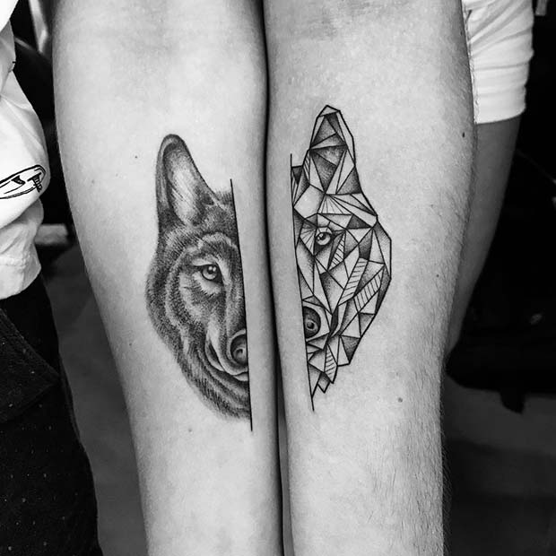 4257b8a89 81 Cute Couple Tattoos That Will Warm Your Heart | Page 8 of 8 ...