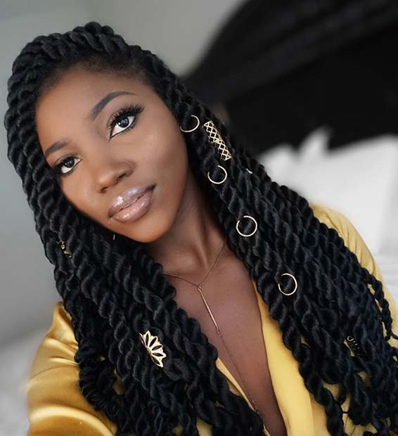 Accessorized Senegalese Twists