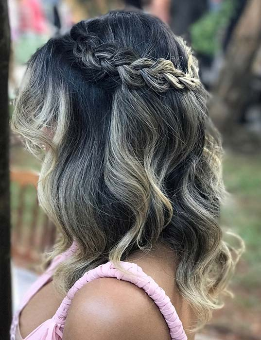Elegant Braided Hairstyle for Short Hair