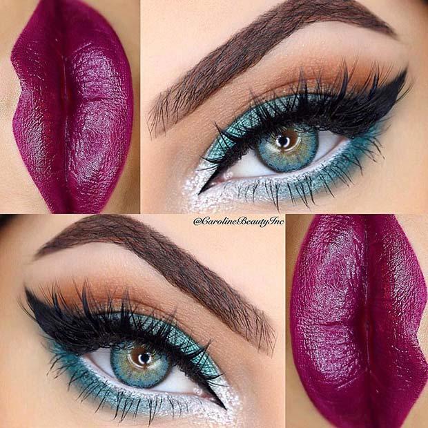 Beautiful Blue and Purple Makeup Idea