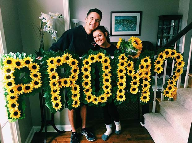 Beautiful Floral Prom Proposal