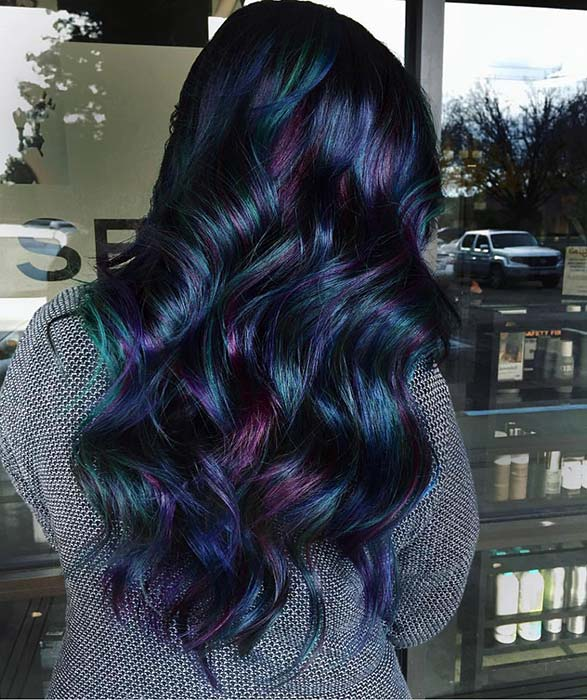 Black, Blue and Purple Hair