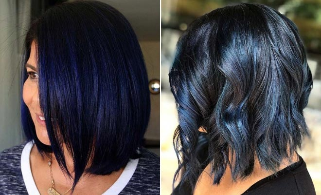 23 Beautiful Blue Black Hair Color Ideas to Copy ASAP | StayGlam