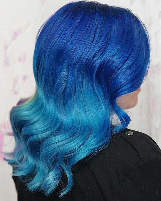 Blue Lagoon Ombre Hair