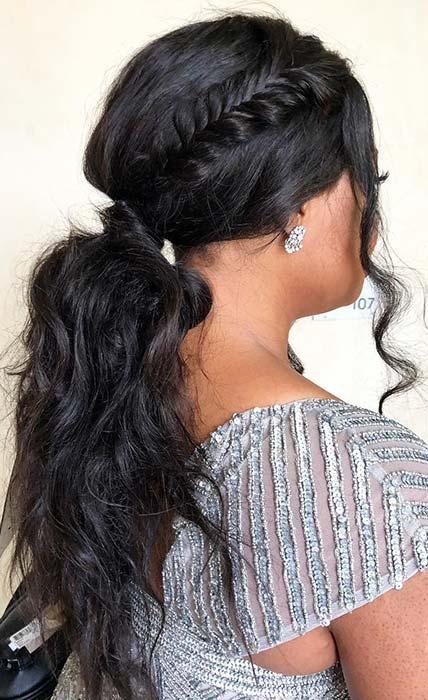 Boho Low Ponytail Hairstyle