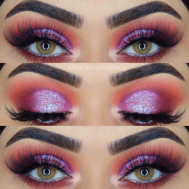Bold Holographic Eye Makeup