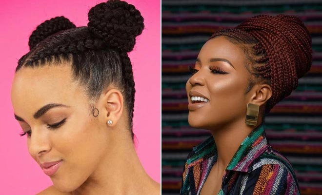 23 Beautiful Braided Updos For Black Hair