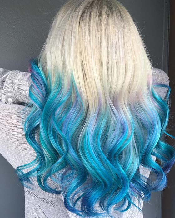 41 Bold And Beautiful Blue Ombre Hair Color Ideas Page 4 Of 4