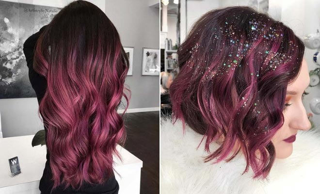 Hair Color In Style: 43 Burgundy Hair Color Ideas And Styles For 2019