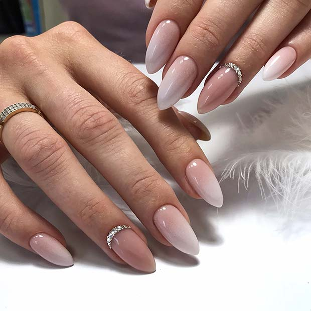 Long, Ombre Wedding Nails