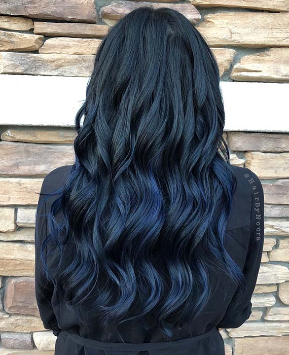 Dark Denim Hair Color Idea