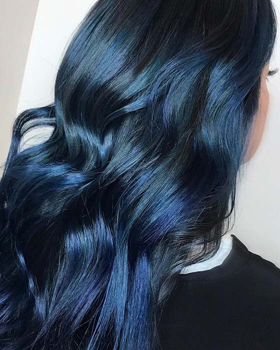 Dark, Magic Blue Black Hair