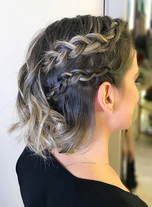 Double Side Braids for Short Hair