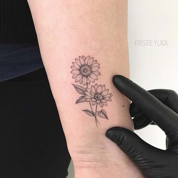 41 Pretty Sunflower Tattoo Ideas To Copy Now