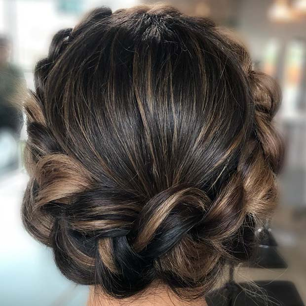 Elegant Halo Braid Hairstyle