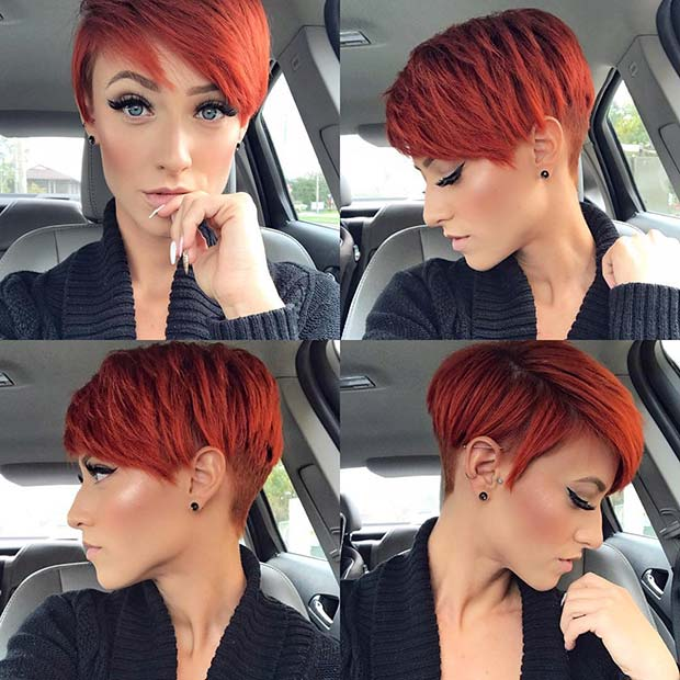 Fiery, Short Red Hair