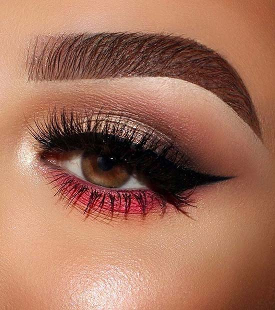 Flash of Red Makeup Idea