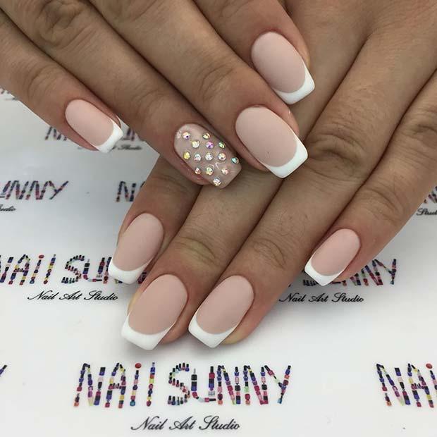 Wedding French Nails