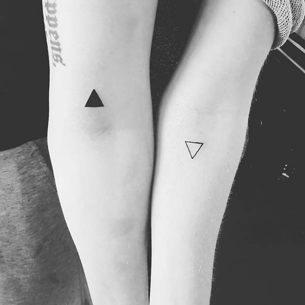 Geometric Brother and Sister Tattoos