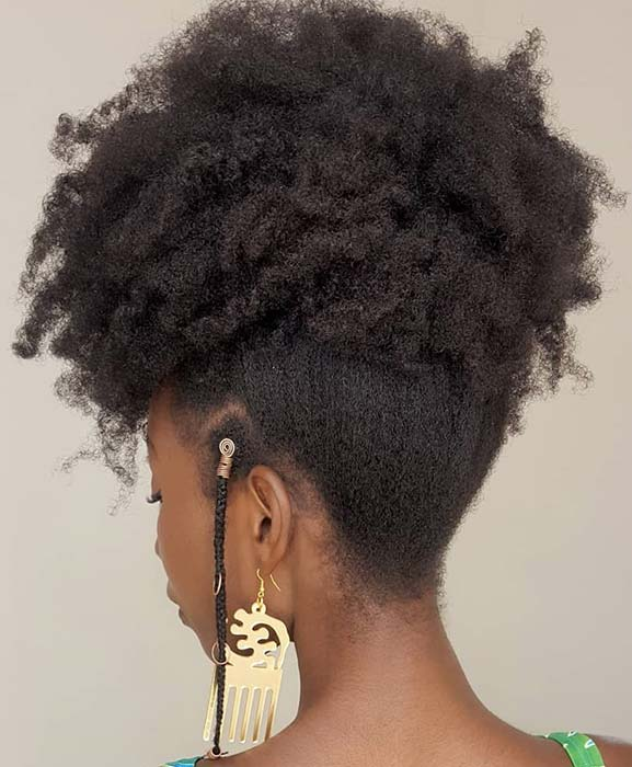 Glam, Natural Updo for Black Women