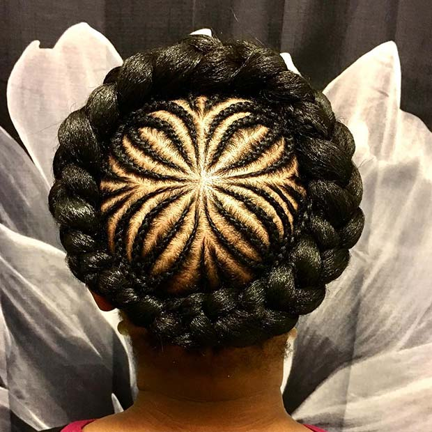 Halo Braid with Unique Braided Design