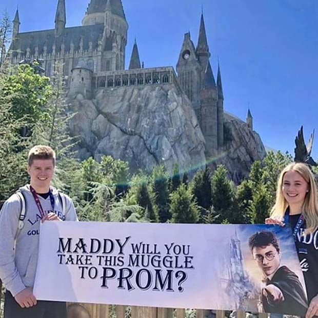Harry Potter Themed Prom Proposal