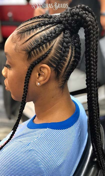 88 Best Black Braided Hairstyles To Copy In 2020 Page 5 Of 9 Stayglam Lemonade braids are woven close to the scalp and towards one side. 88 best black braided hairstyles to