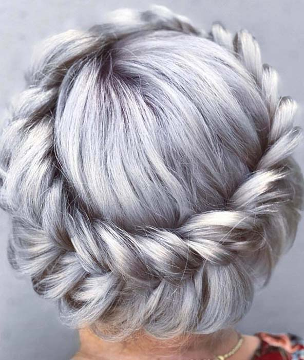 Icy, Fishtail Halo Braid