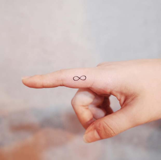 Infinity Symbol Simple Tattoo Idea