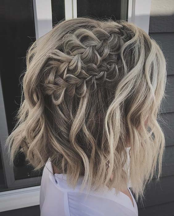 Pretty Braided Hairstyle for Short Hair