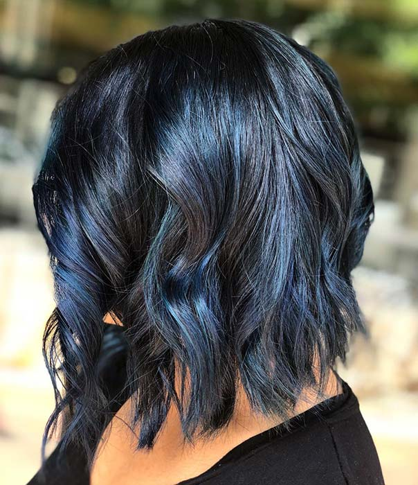 43 Beautiful Blue Black Hair Color Ideas To Copy Asap Stayglam