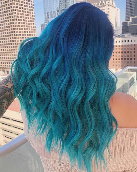Blue Mermaid Ombre Hair